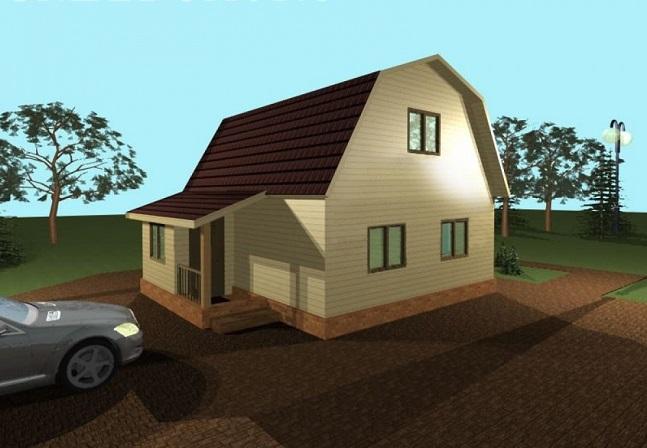 дом с крыльцом вместо прихожей