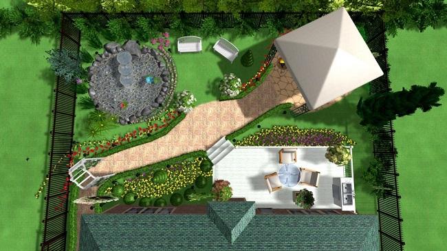 задний двор загородного дома