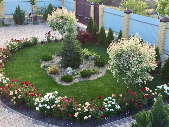 парадный двор с розарием