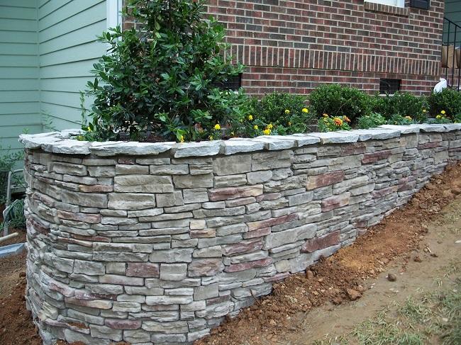 подпорная стенка из базальта