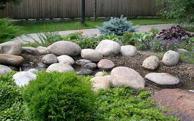 камни для рокария с водоемом
