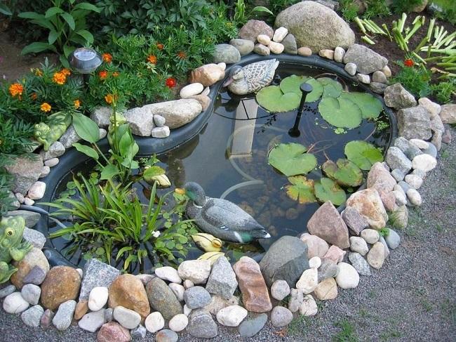 самодельный водоем на даче с утками своими руками