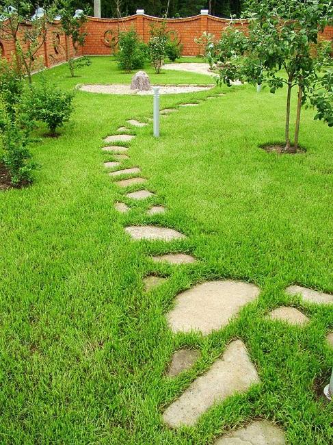 шаговые дорожки в саду