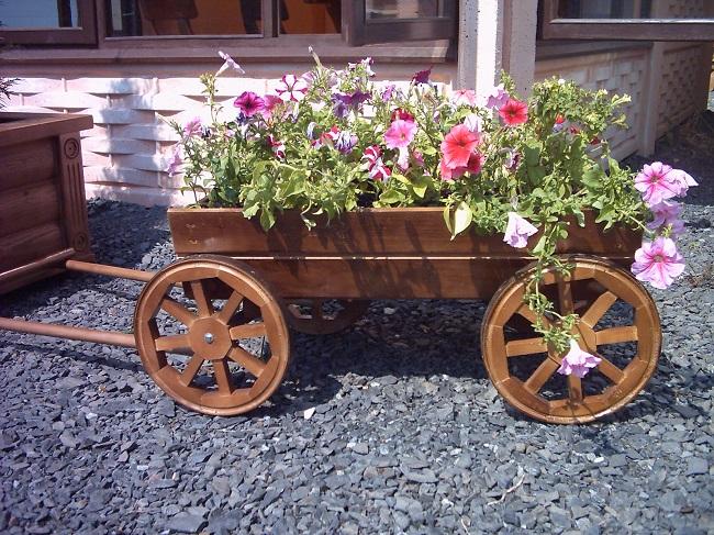 тележка цветник для сада