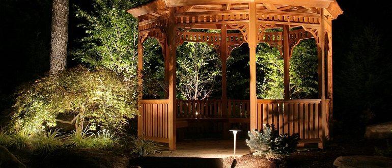 красивые беседки из дерева для дачи