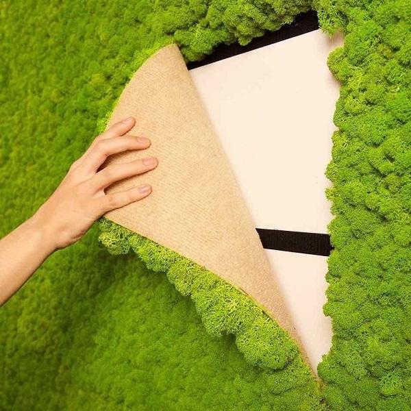 искусственный декоративный мох панели