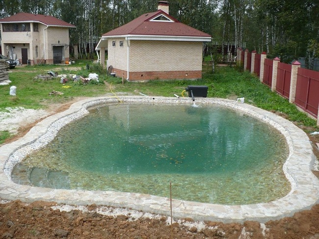 водоем для купания на участке