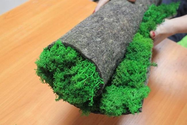 искусственный мох в рулонах