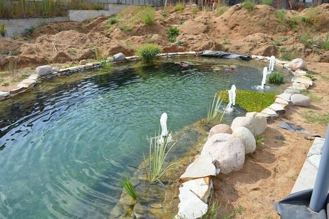 водоем с фонтанами