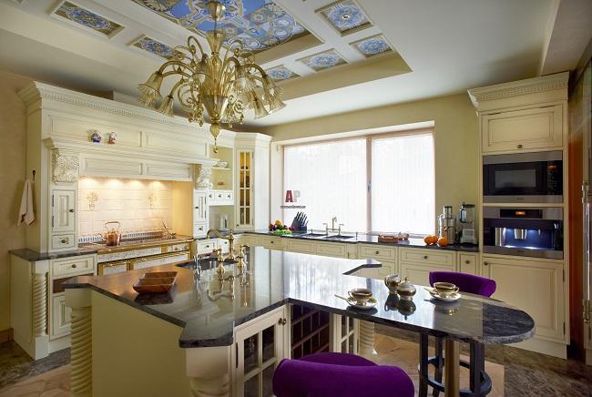 интерьер кухни в английском стиле