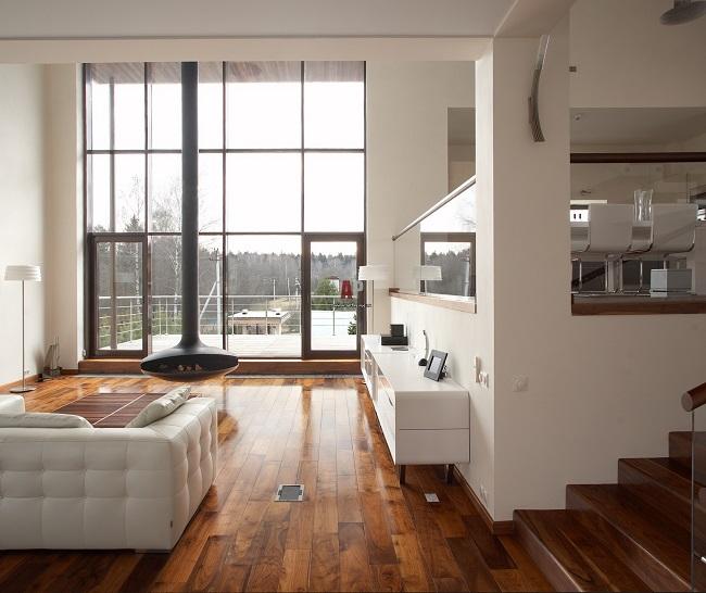 интерьер дома в стиле минимализм внутри