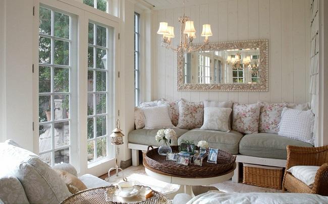 интерьер частного дома внутри в стиле прованс