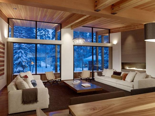 интерьер дома в стиле модерн внутри