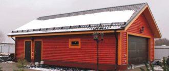 проект гаража с хозблоком