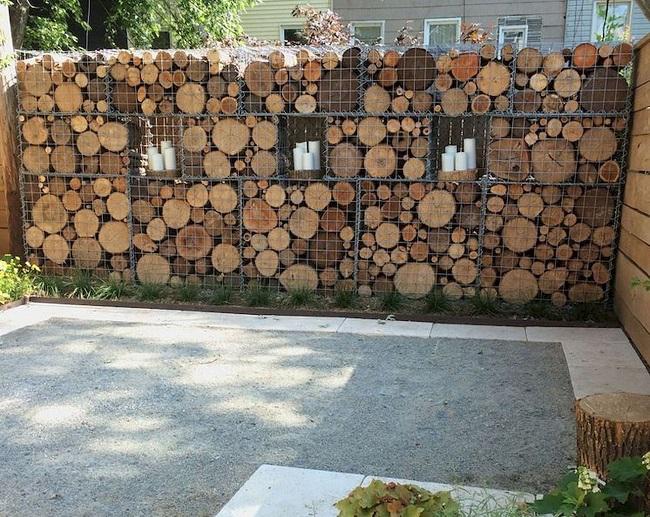 габионы из дерева