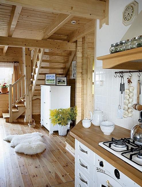 интерьер частного дома в пастельных цветах
