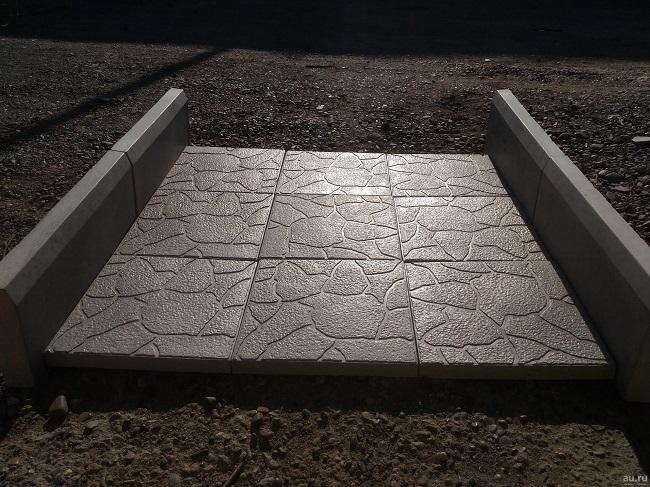 Вибролитая бетонная плитка для мощения