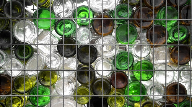 габионы из бутылок