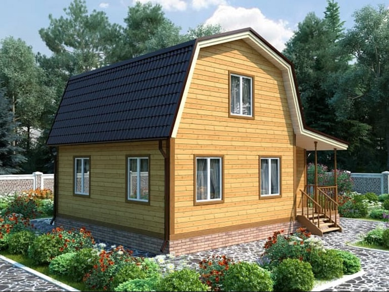 Дизайн дачного домика снаружи