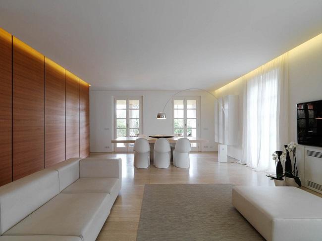 освещение в стиле минимализм частного дома
