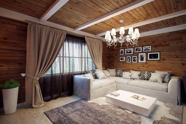 гостиная в интерьере частного дома