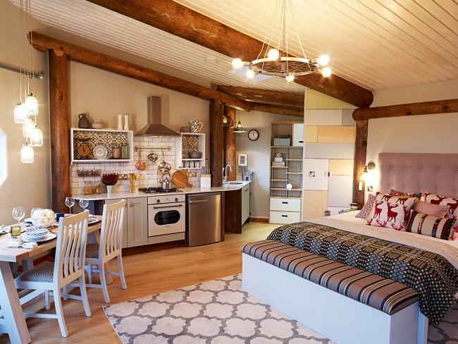 кантри стиль в интерьере частного дома 6 на 6