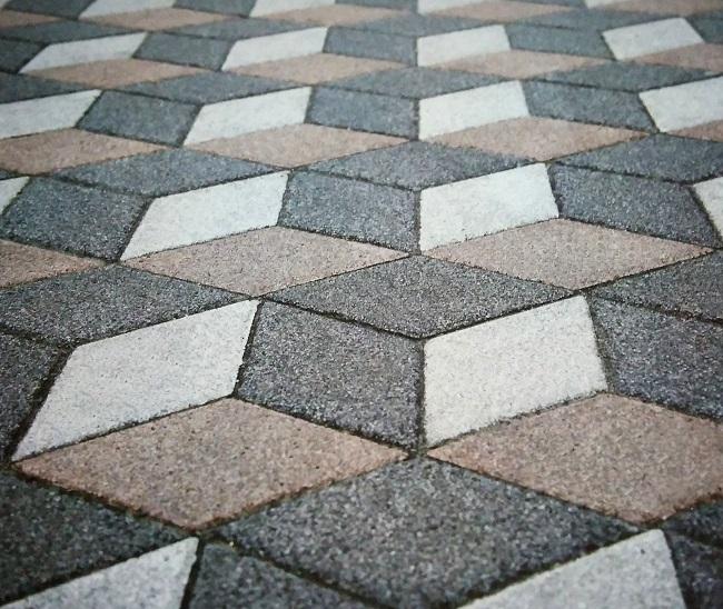 бетон вибропрессованный мощение