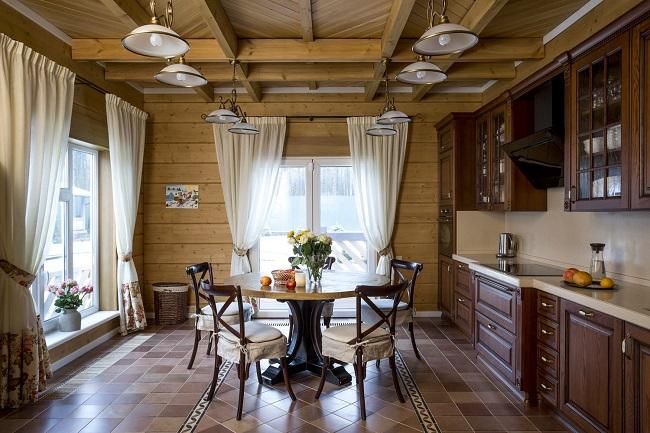 интерьер дома внутри из клеенного бруса