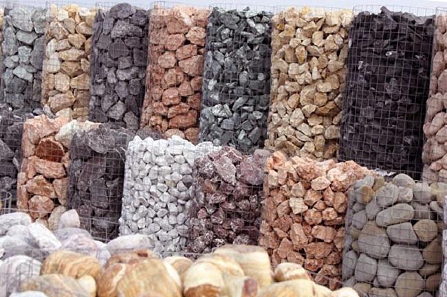 камни для наполнения габионов.