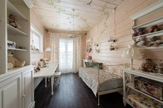 прованский стиль с вагонкой в интерьере дома внутри
