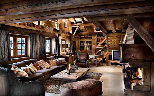 рустикальный стиль дома внутри