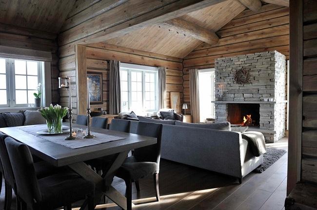 интерьер одноэтажного дома в скандинавском стиле