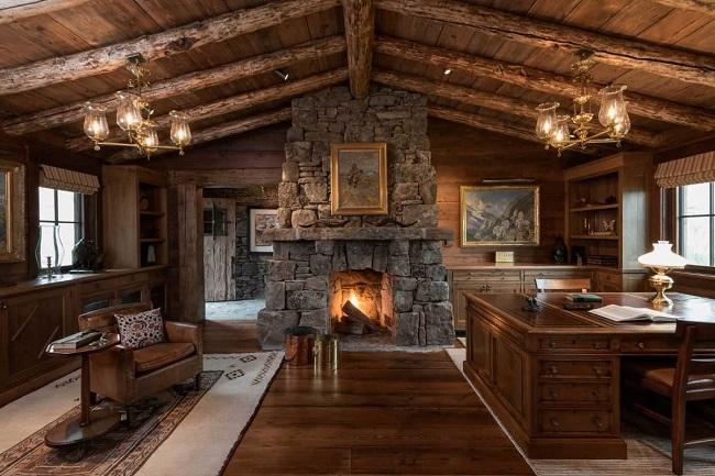 интерьер частного дома в стиле рустик