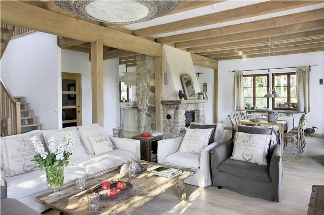 прованс стиль в интерьере частного дома