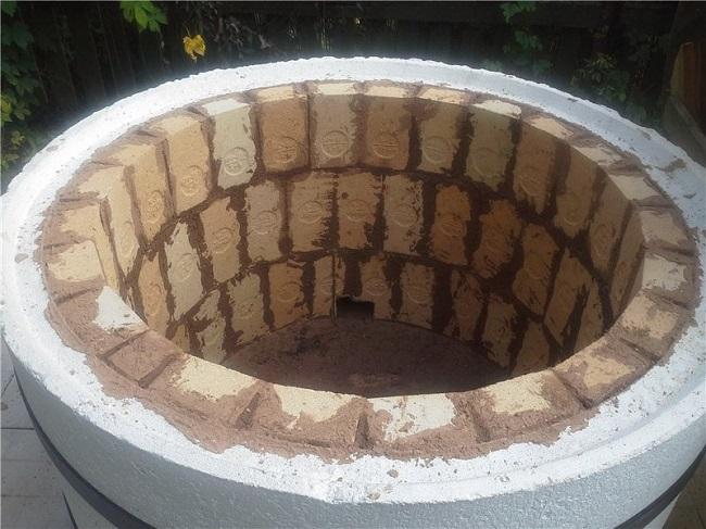 очаг из бетонного кольца