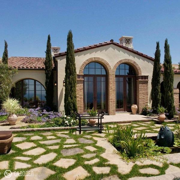 тосканский стиль в ландшафтном дизайне
