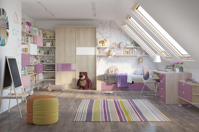 Детская мансардная комната
