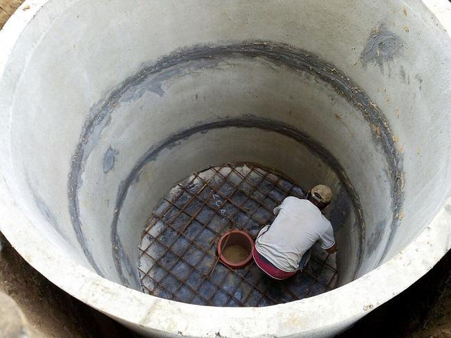 армирование пола погреба из колец