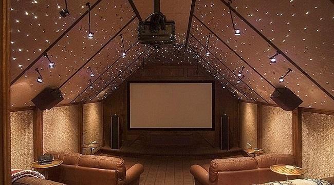 потолок мансарды под звездное небо