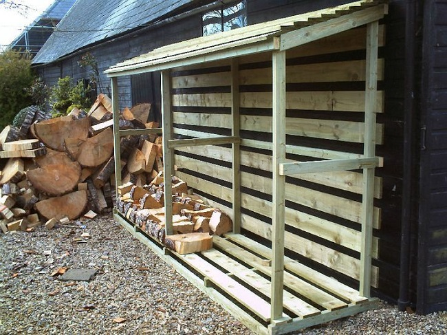дровяник пристроенный к дому