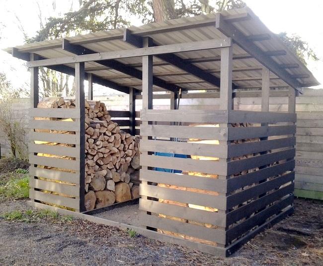 дровяник в два ряда