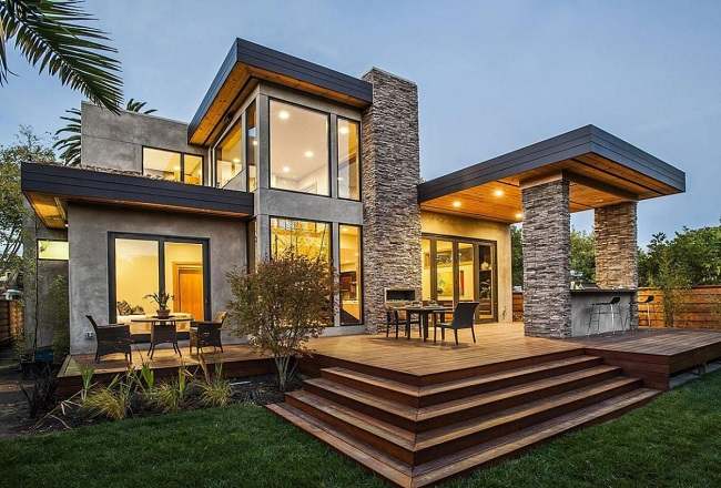 дом в современном стиле модерн