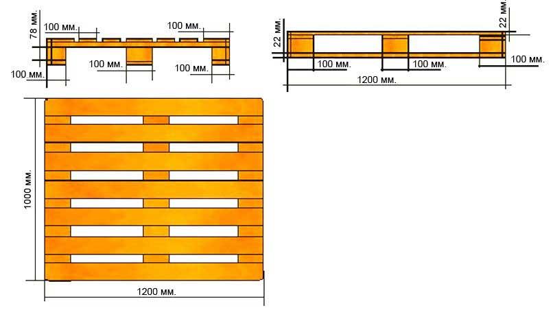 размер поддонов отечественного производства