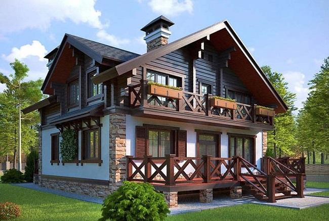 архитектурный стиль дома шале