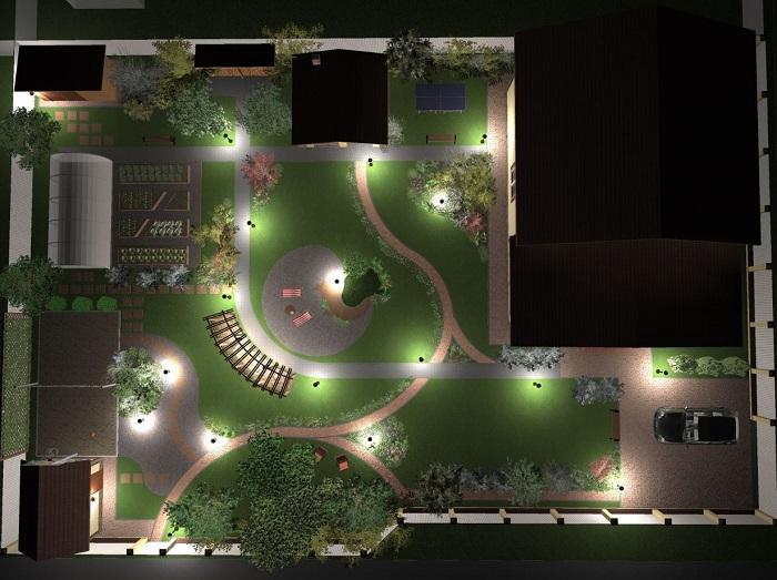 проект ландшафтного освещения
