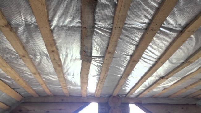утепление односкатной крыши хозблока