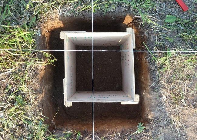 фото: опалубка для столбчатого фундамента