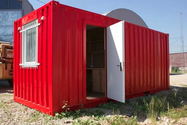 контейнер переоборудованный под хозблок