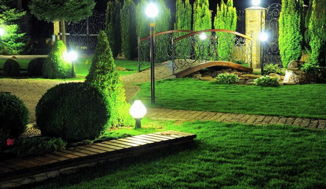 декоративное освещение на даче