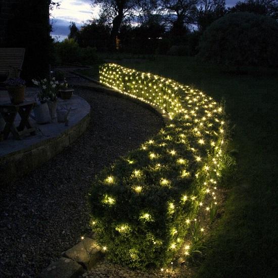 контурная подсветка кустарников